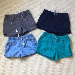 Girls shorts lot of 4 size medium (8) Old Navy
